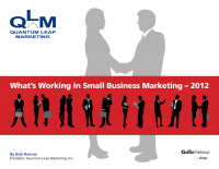 What's Working in Small Business Marketing