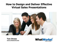 How to Design and Deliver Effective Virtual Sales Presentations