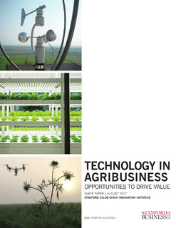 Technology in Agribusiness: Opportunities to Drive Value