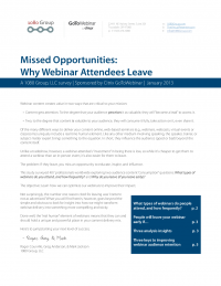 Missed Opportunities: Why Webinar Attendees Leave
