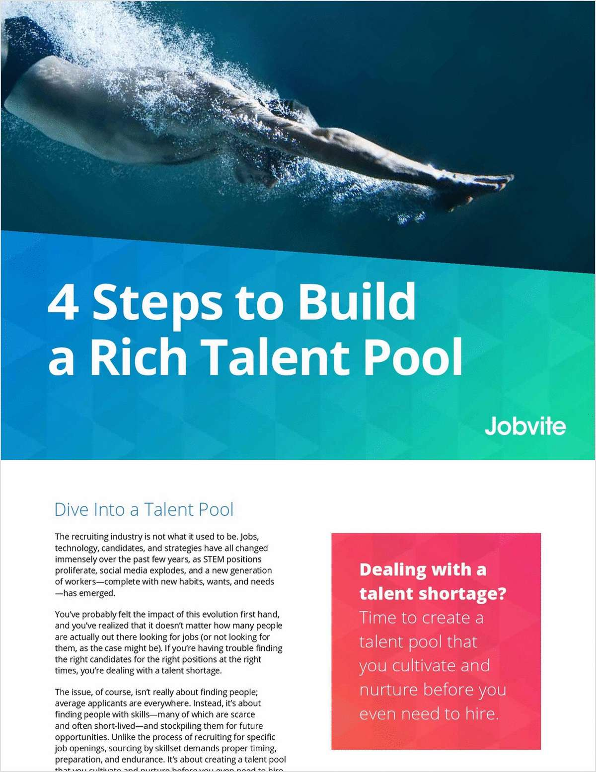 4 Steps to Build a Rich Talent Pool