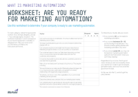 Are You Ready for Marketing Automation?