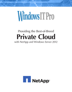 Best of Breed Private Cloud with NetApp and Windows Server 2012