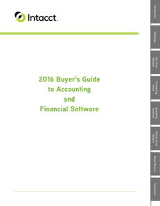 The 2016 Buyer's Guide to Accounting and Financial Software