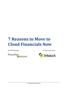 7 Reasons to Move to Cloud Financials Now