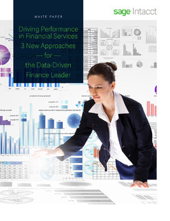 3 New Approaches for the Data Driven CFO – Driving Performance in Financial Services