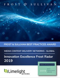Limelight Receives Frost and Sullivan Innovation Excellence Award for Video Delivery
