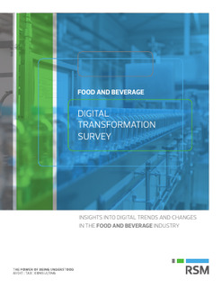 Food and Beverage: Digital Transformation Survey