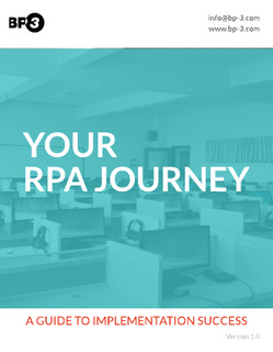 Your RPA Journey