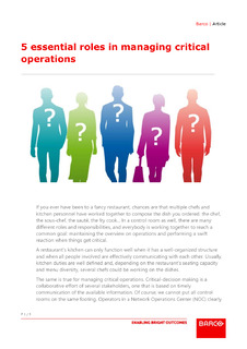5 essential roles in managing critical operations