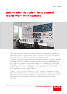 Information in action: how control rooms work with content