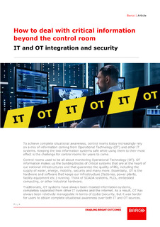 How to deal with critical information beyond the control room