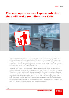 The one operator workspace solution that will make you ditch the KVM