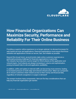 How Financial Organizations Can Maximize Security, Performance and Reliability For Their Online Business