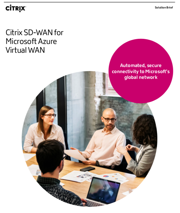 Citrix SD-WAN for Microsoft Azure Virtual WAN