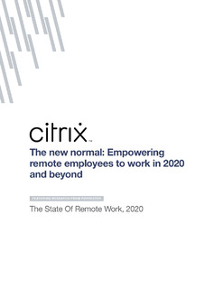 Forrester: The state of remote work 2020