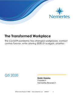 The Transformed Workplace