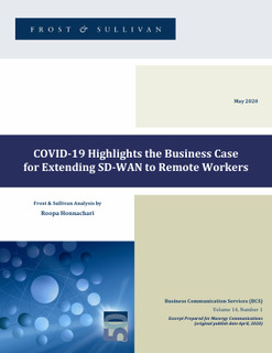 Frost & Sullivan COVID-19 Highlights the Business Case for Extending SD-WAN to Remote Workers