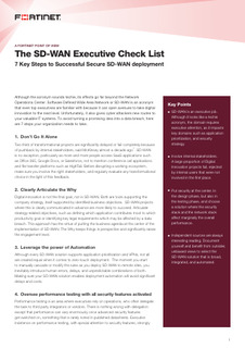 The SD-WAN Executive Check List