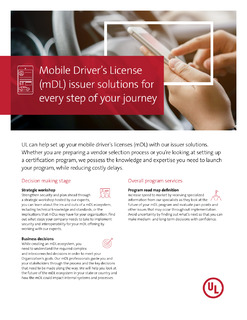 Mobile Driver's License (mDL) issuer solutions for every step of your journey