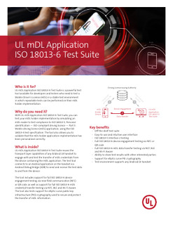 UL mDL Application ISO 18013-6 Test Suite