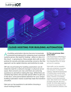 Cloud Hosting for Building Automation