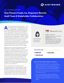 How Flowers Foods, Inc. Empowers Remote Audit Team & Stakeholder Collaboration