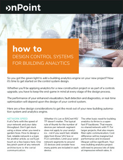 How to Design Control Systems for Building Analytics