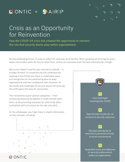 Crisis as an Opportunity for Reinvention