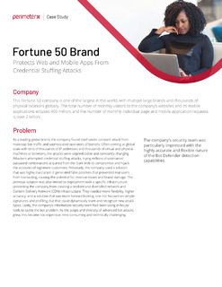 Fortune 50 Brand Protects Web and Mobile Apps From Credential Stuffing Attacks