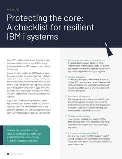 Protecting the Core: A Checklist for Resilient IBM i Systems