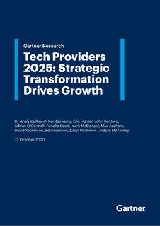 Tech Providers 2025: A Gartner Special Report