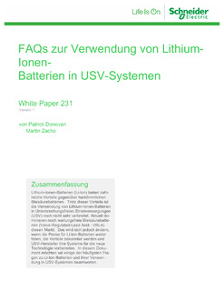 FAQs on the use of lithium-ion batteries in UPS systems