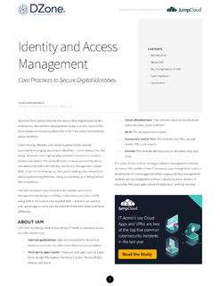 Identity and Access Management Core Practices to Secure Digital Identities