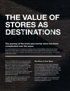 The Value of Stores as Destinations