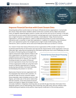 How Streaming Data Will Be Transformative To The Future of Financial Services Organizations