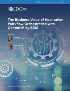 The Business Value of Application Workflow Orchestration with Control-M by BMC
