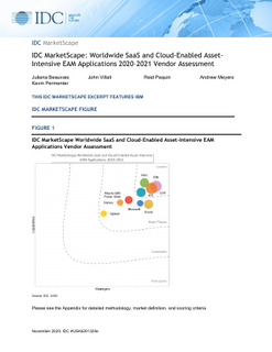 IBM named a leader in IDC MarketScape for EAM