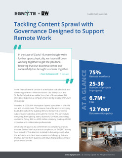 Tackling Content Sprawl with Governance Designed to Support Remote Work