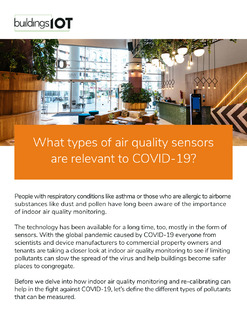 What Types of Air Quality Sensors Are Relevant to COVID-19?