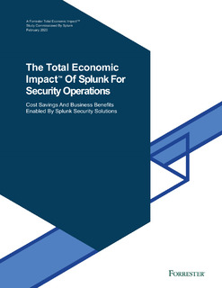 The Total Economic Impact™ of Splunk for Security Operations