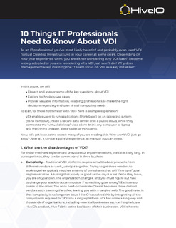 10 Things IT Professionals Need to Know About VDI