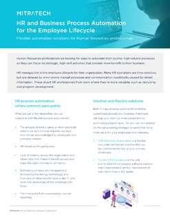 Brochure: HR and Business Process Automation for the Employee Lifecycle
