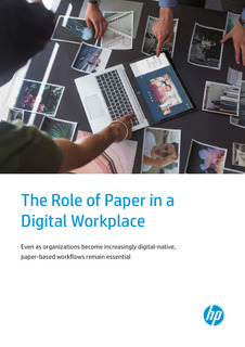 The Role of Paper in a Digital Workplace