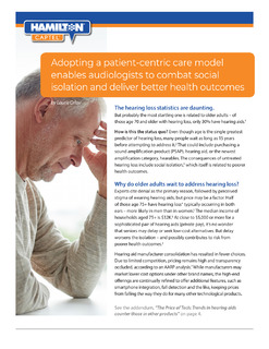 Adopting a patient-centric care model enables audiologists