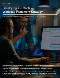 Developing an Effective Workload Placement Strategy