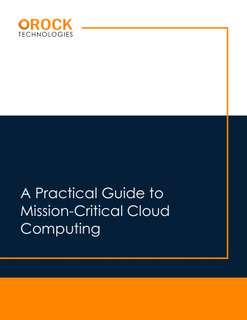 A Practical Guide to Mission Critical Cloud Computing
