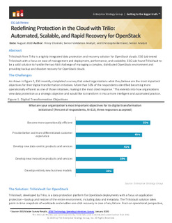 ESG Lab Review – Redefining Protection in the Could with Trilio: Automated, Scalable, and Rapid Recovery for OpenStack