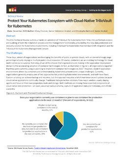 ESG Lab Review: Protect Your Kubernetes Ecosystem with Cloud-Native TrilioVault for Kubernetes