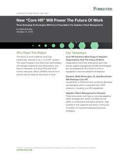 "New ""Core HR"" Will Power the Future Of Work"
